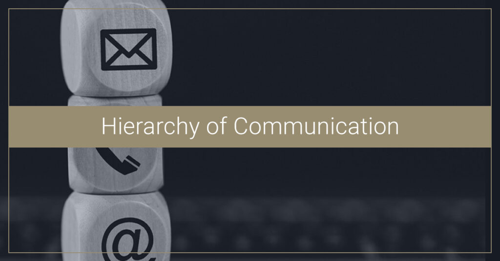 Hierarchy of Communication