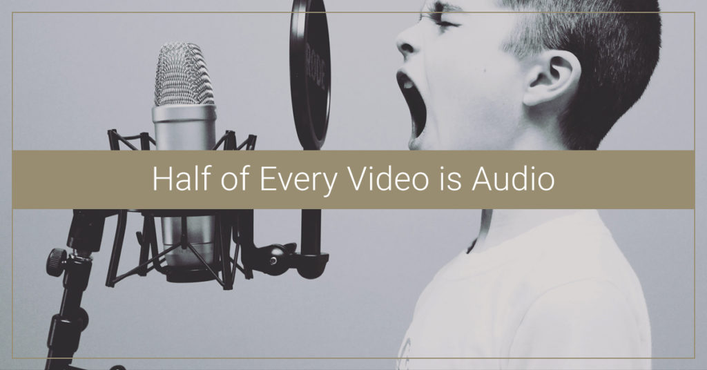 Half of Every Video is Audio